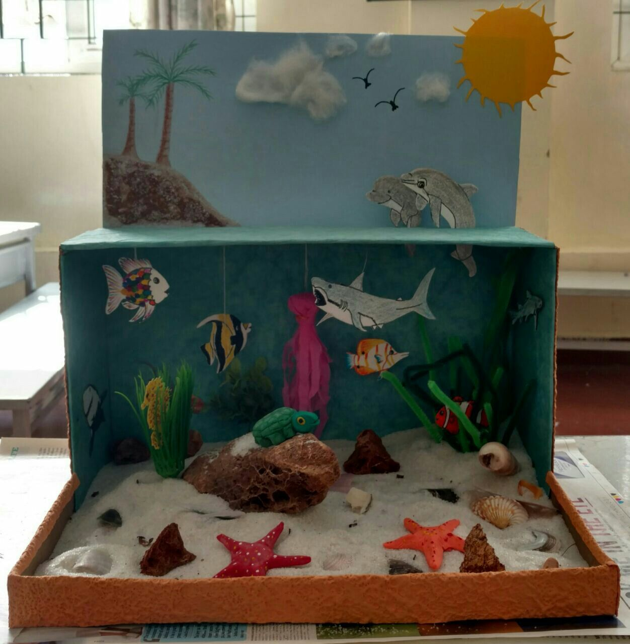 Kids Diorama With Details: Kids Seashore Project