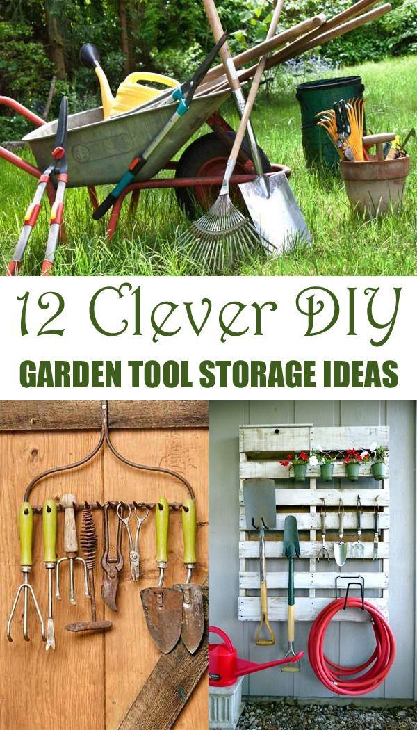 "diytotry: ""12 Clever DIY Garden Tool Storage Ideas → "" | Garage ..."