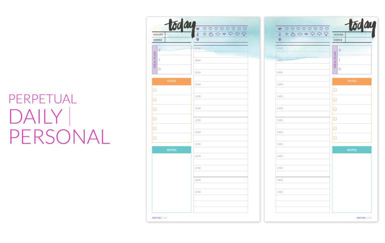 Printables Planners, Free calendar and Free printable - Perpetual Calendar Template
