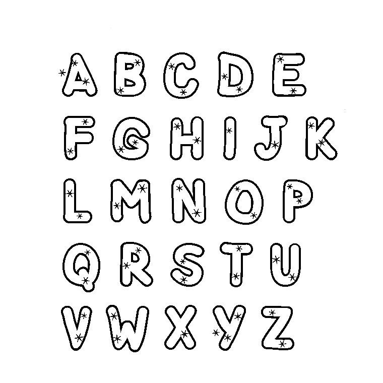 Coloriage alphabet majuscule de tout et rien pinterest - Alphabet majuscule a imprimer ...