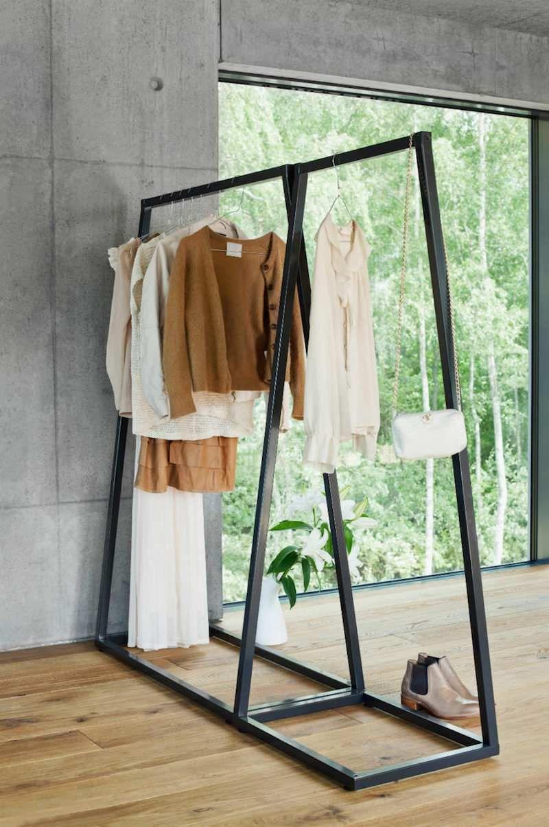 Porte Vêtement Penderie Et Armoire Grillagée Les Rangements Petit - Portant vetement design