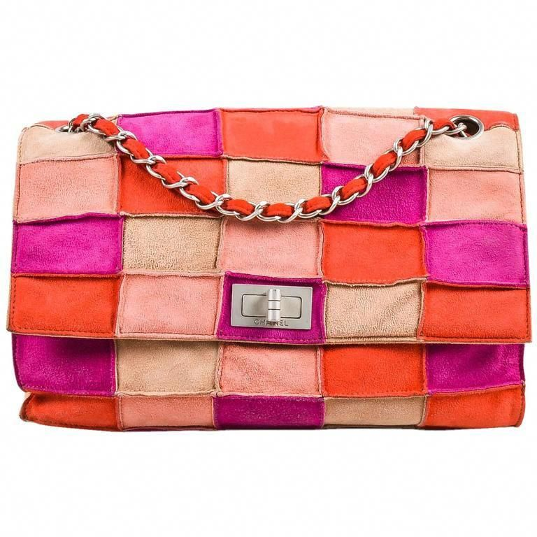 e253d2ed9c92 Chanel Pink Beige Suede Leather