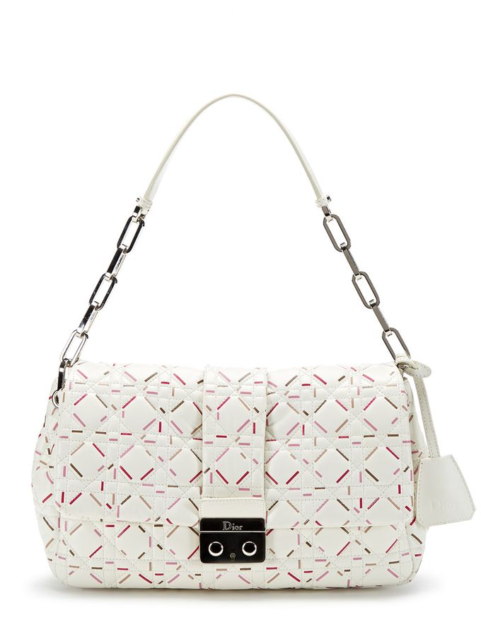 7c8397442ed8 Christian Dior White Multi New Lock Large Flap Bag from Ladylike Vintage  Handbags Feat. Dior on Gilt