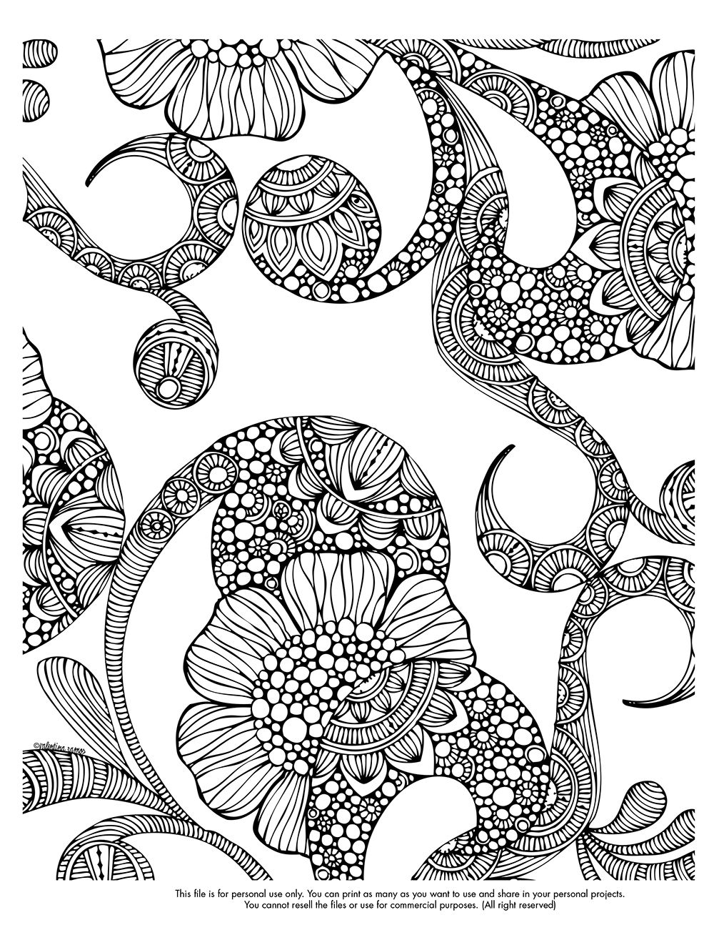 Happy Coloring Monday Here Your Page Of This Week Valentinadesign
