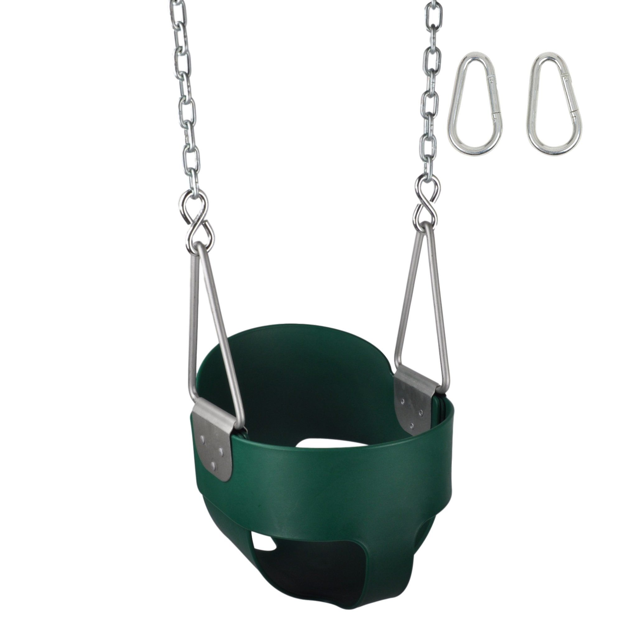 stuff set with and hooks logo pin sss highback swing coated full green chains bucket