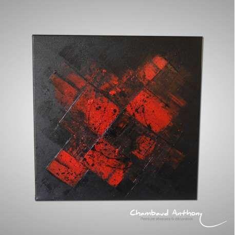 Tableau rouge de l'artiste Anthony Chambaud, artiste peintre contemporain Français : http://www.chambaud-abstrait.com/