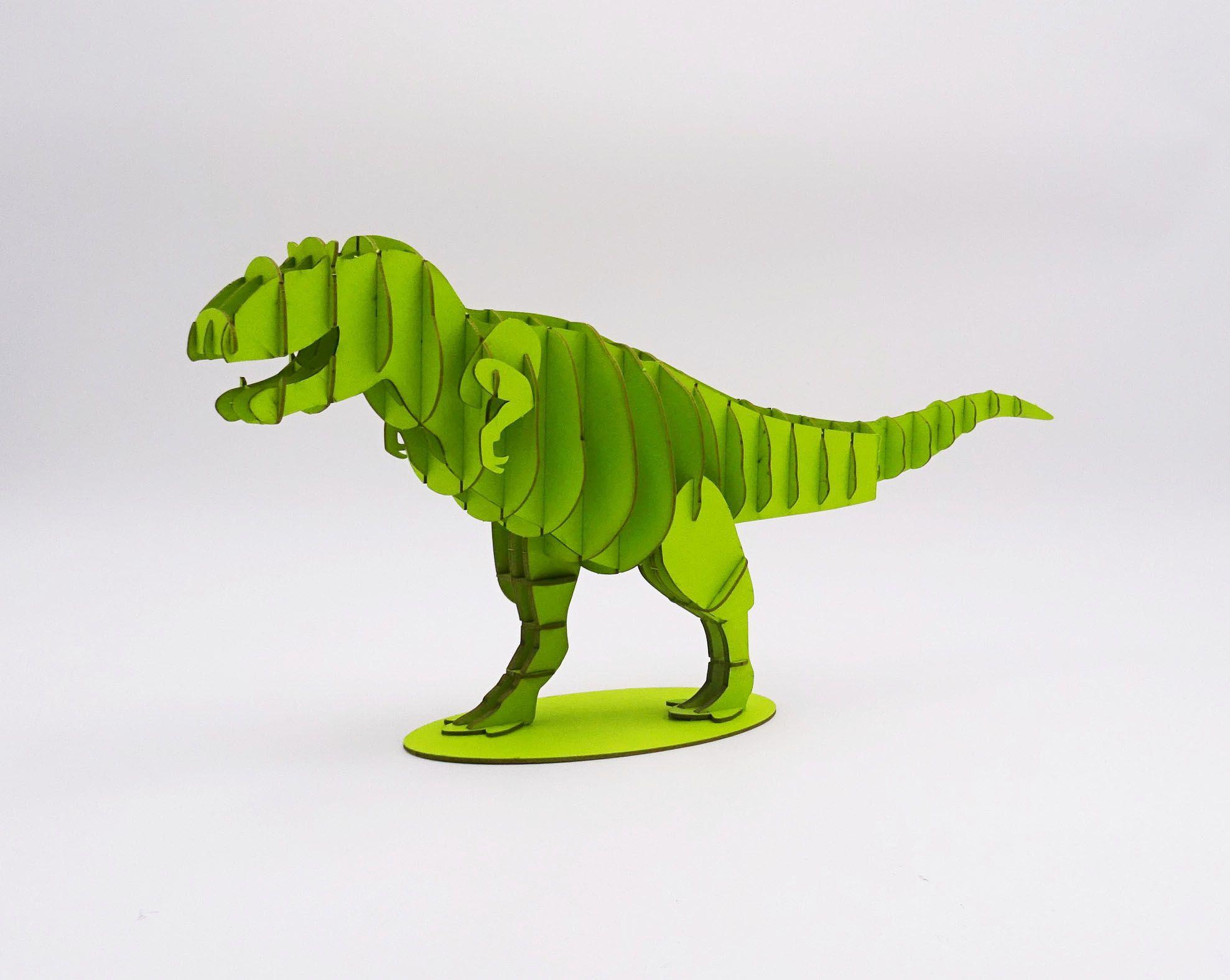 Dinosaure découpe laser fabriqué en carton  assembler soi mªme