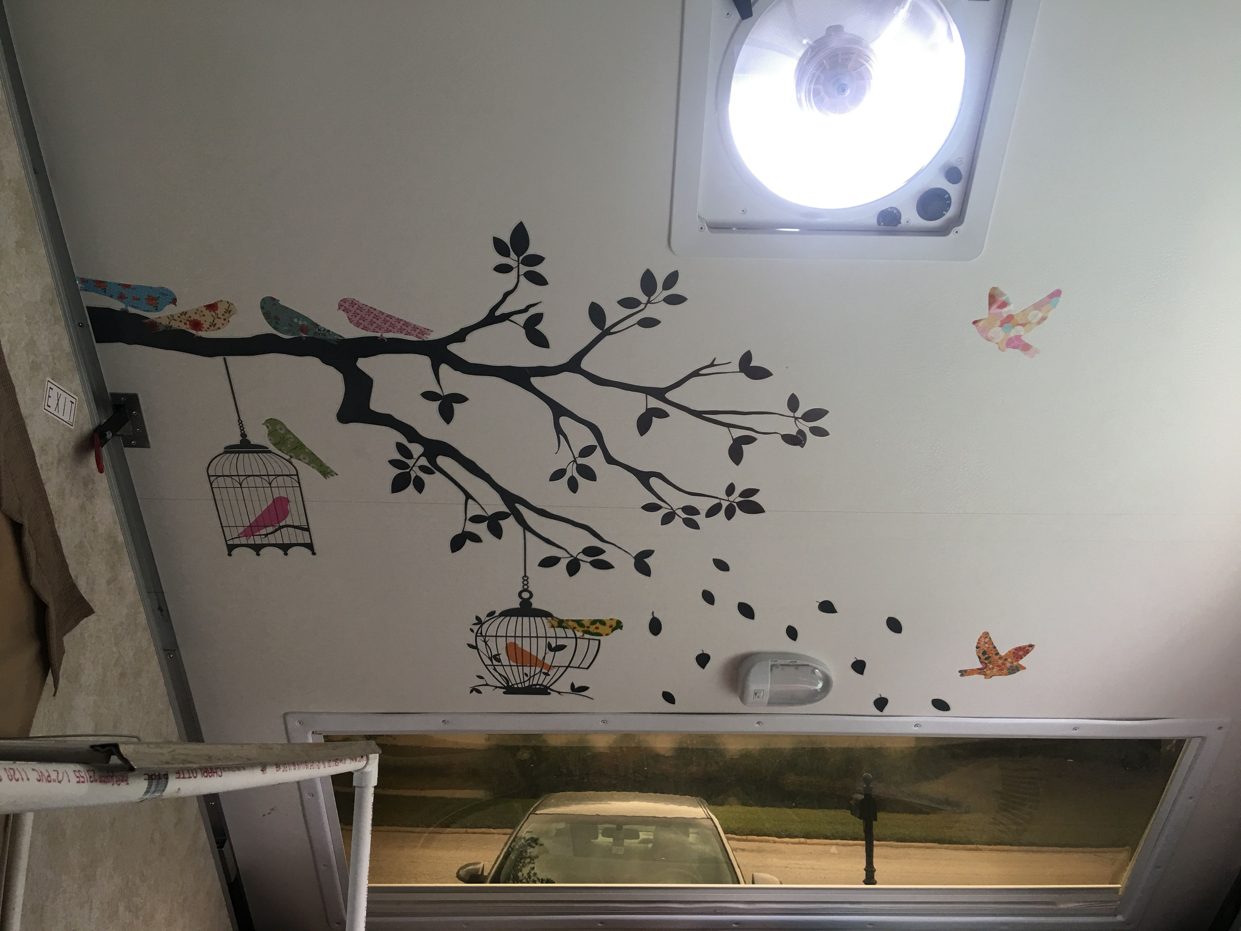 Wall stickers inside   Aliner Camper Ideas   Home decor
