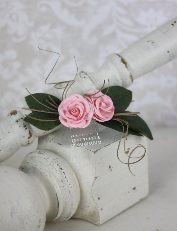 Wedding Hair Comb Rustic Vintage Chic by Morgann by braggingbags, $29.99