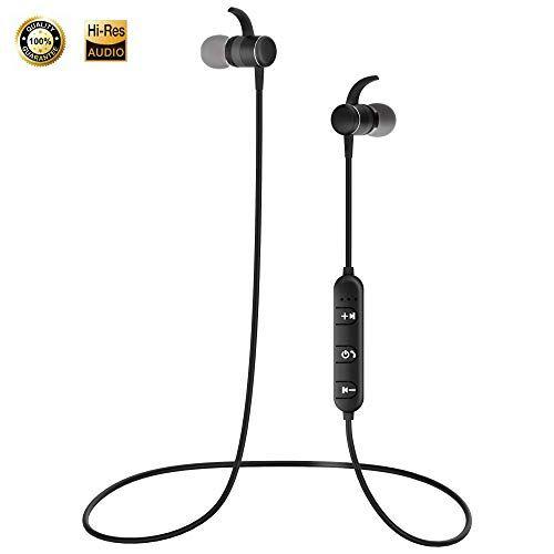 9ff7156587b Earphones In-Ear Headphones HD Magnetic Wireless Earbuds Bluetooth Sport  Headset Hi-Fi Aptx