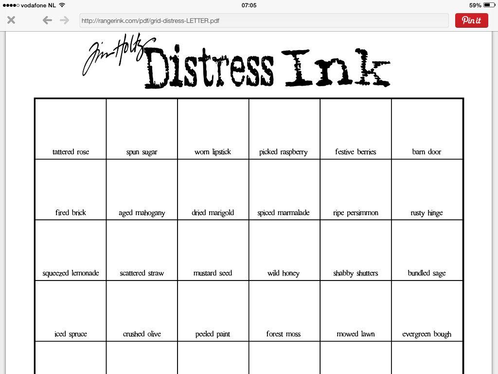 Color chart distress ink kleurenkaart distress print me color chart distress ink kleurenkaart distress nvjuhfo Image collections