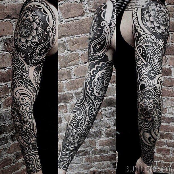 Swahili Bob S Tattoo On Instagram Sleeve By Ion Ionrosgrim Some Healed Some Fresh Re Mandala Tattoo Sleeve Geometric Tattoo Full Sleeve Full Sleeve Tattoos