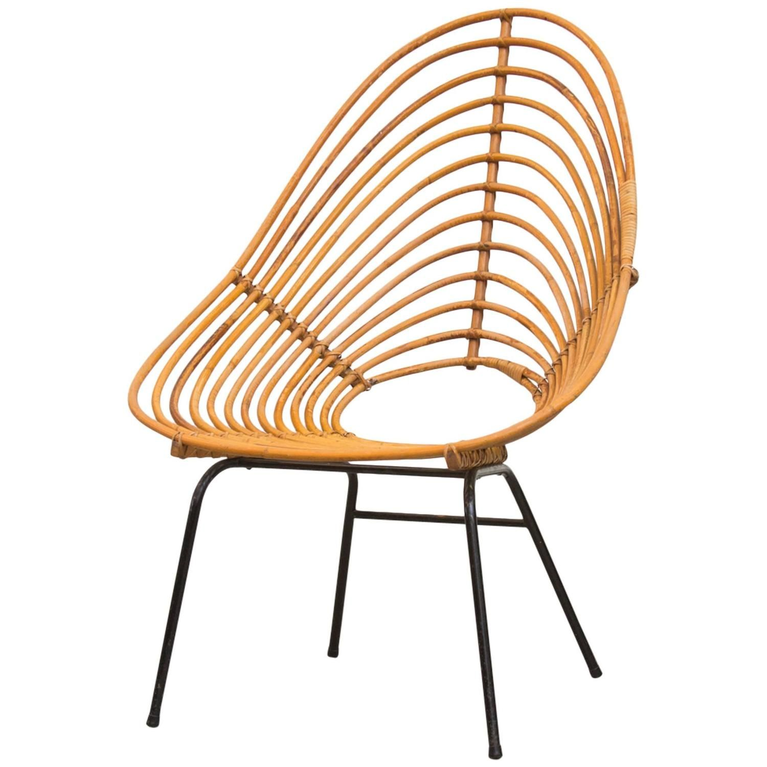 ion Skin Patterned Tall Bamboo Lounge Chair