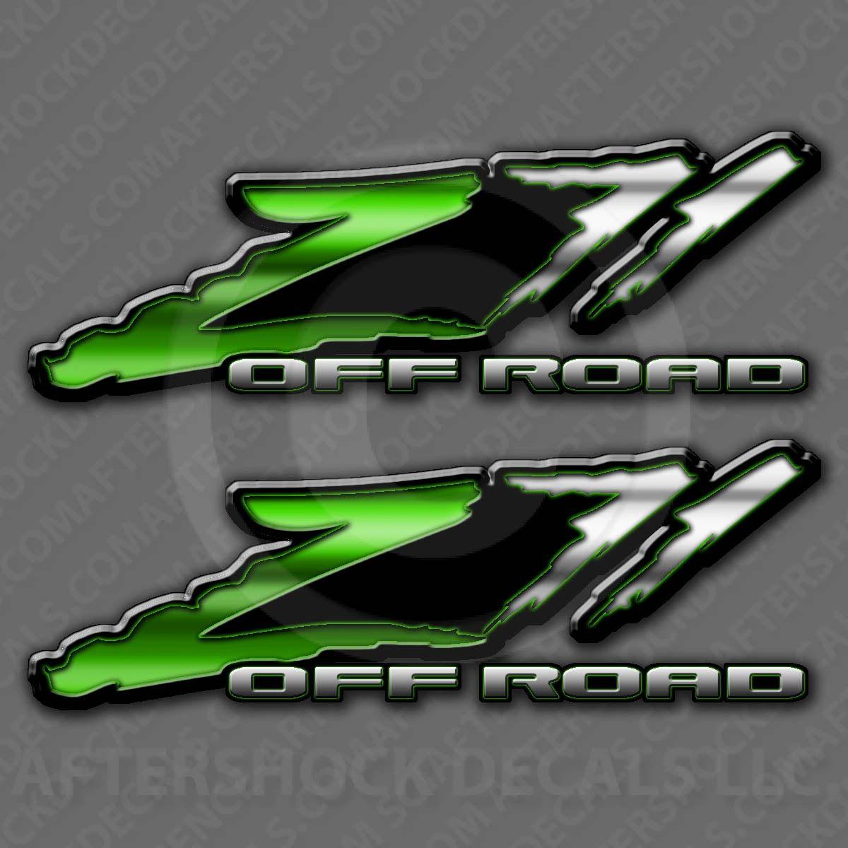 Aftershock decals z71 green slash decals 19 99 http www