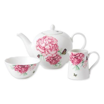 Miranda Kerr For Royal Albert Everyday Friendship 3 Piece Tea Set White Miranda Kerr Tea Pots China Tea Sets