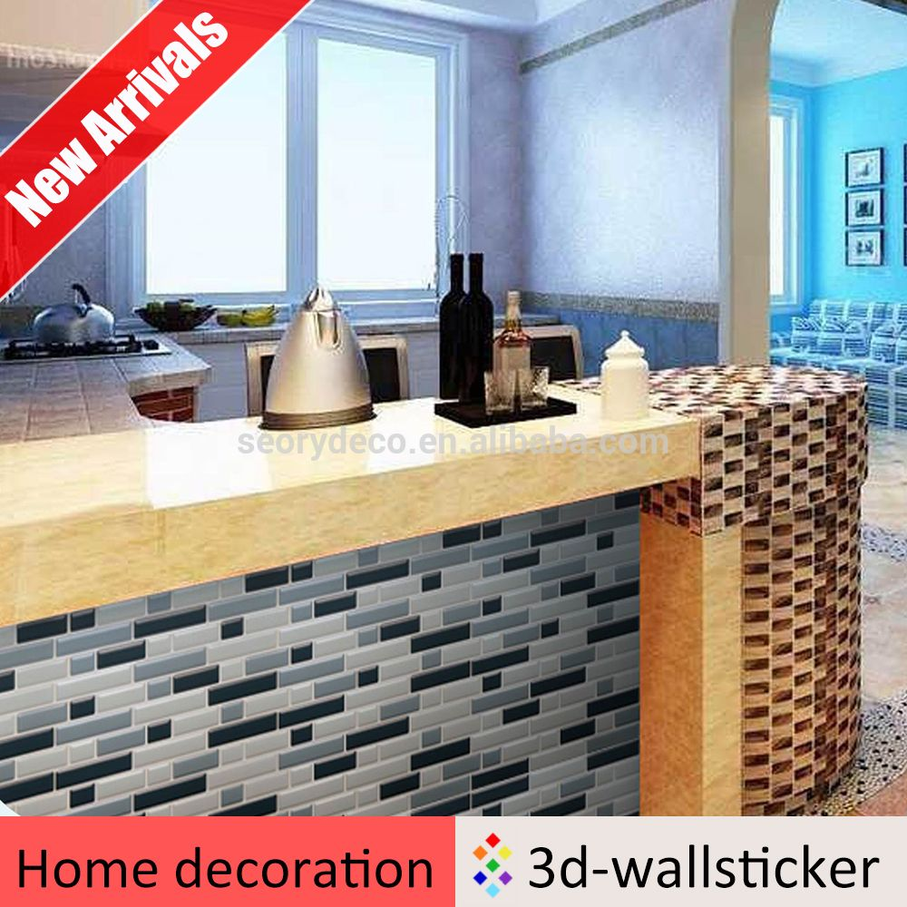 Self Adhesive Instant Stick On Plastic Wall Tile Sheet For Kitchen Oil Proof View Plastic Wall Tile Sheet Wall Tiles Vinyl Backsplash Decorative Backsplash
