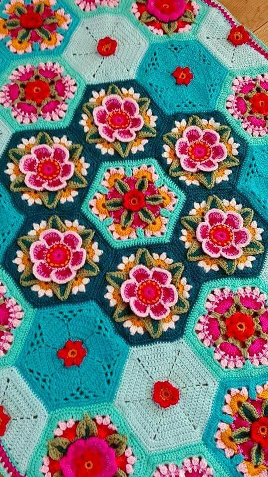 Fridas Flowers Blanket Cal 2016 Variation Inspiratie