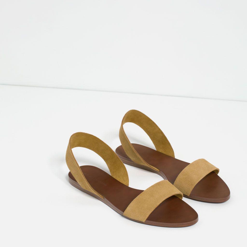 Zapatos Zara Ver Sandalia Piel Plana España Mujer Accesorios Todo wxRqvZpR