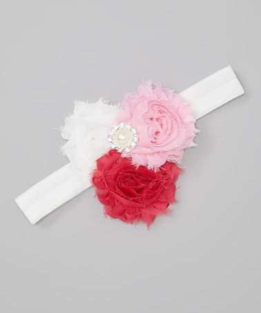 Take a look at this Hot Pink & White Mia Shabby Headband by Chicaboo on #zulily today! #baby #headband #Chicaboo #pettskirt #vintage baby #photoprops #Couture #baby #kidsdeals #babysteals #babydeals #babygirl #sweet #newbornphotography #baby # boutique http://www.shopchicaboo.com
