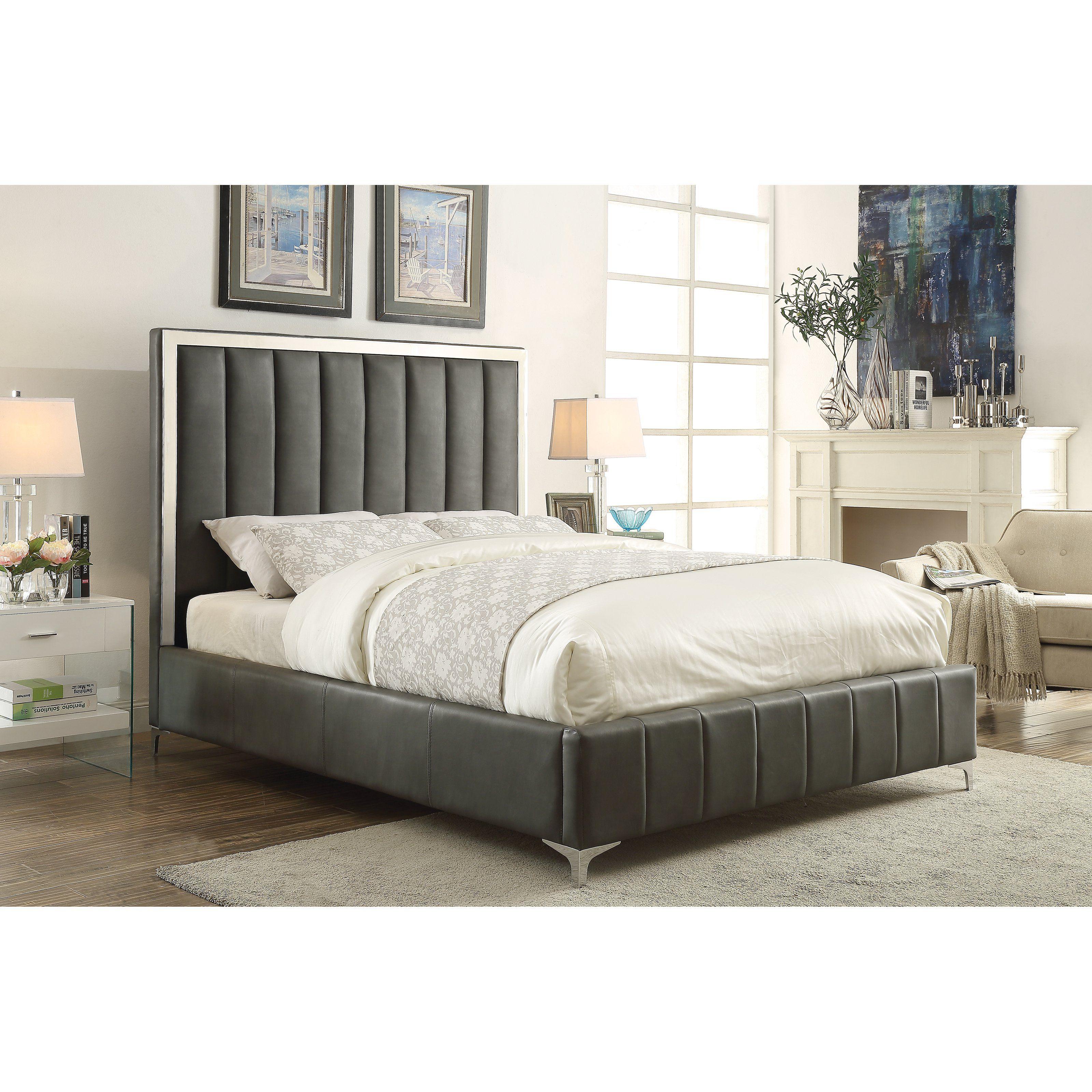 Coaster Furniture Jared Upholstered Bed From Hayneedle Com Cabeceras Living
