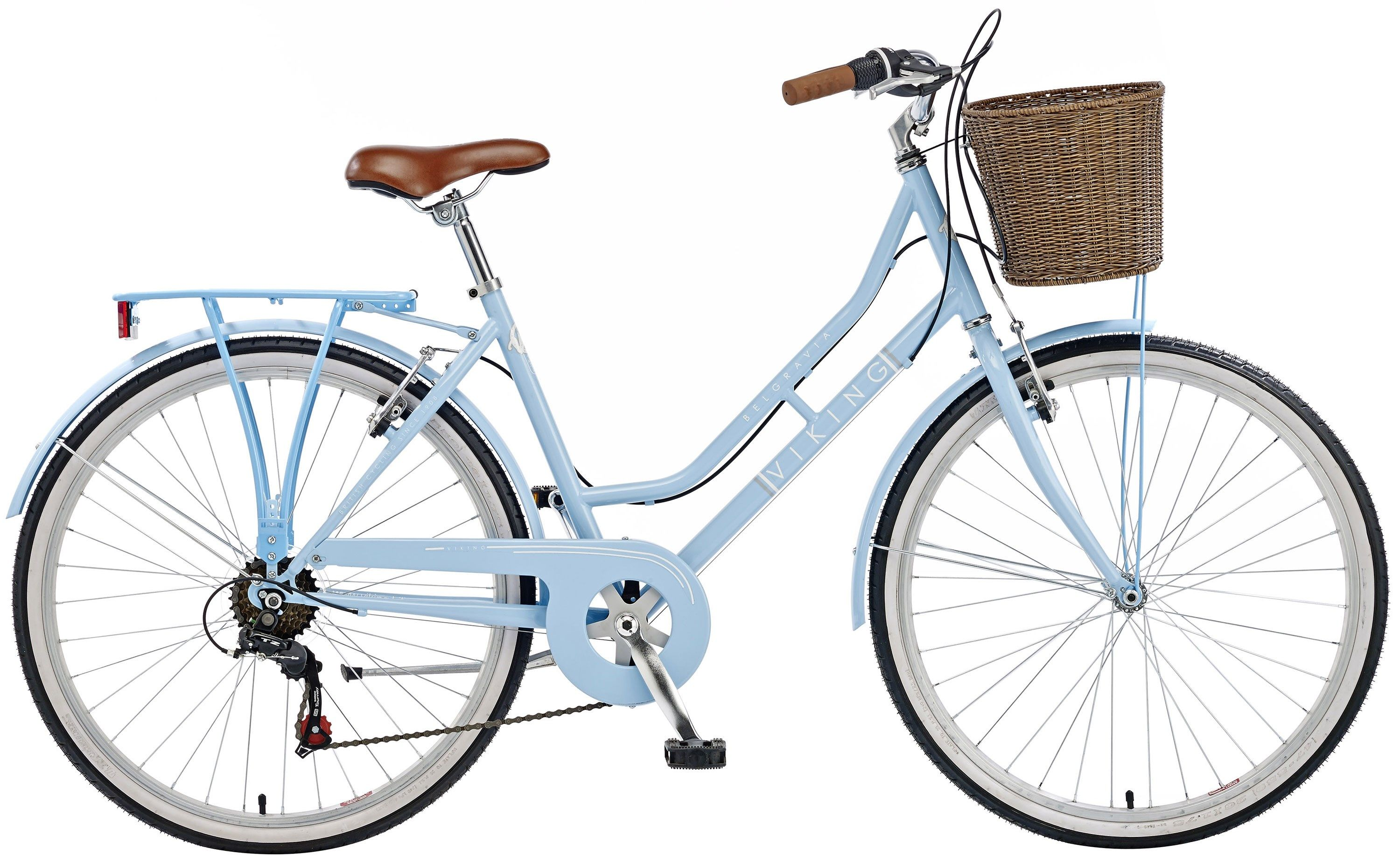 "28/"" Ladies Hybrid City Bike Dutch Style Cycle MILORD Town 7 Colours Vintage"