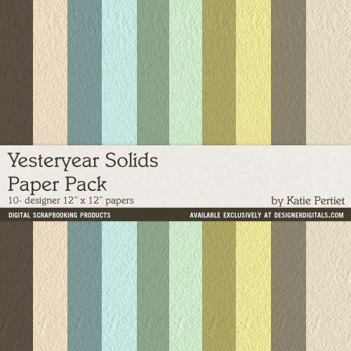 Yesteryear Solids Paper Pack- Katie Pertiet Papers- PP668195- DesignerDigitals