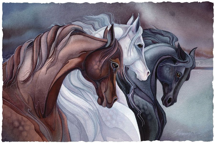 Bergsma Gallery Press :: Paintings :: Nature :: Horses :: Sisters of the Wind - Prints