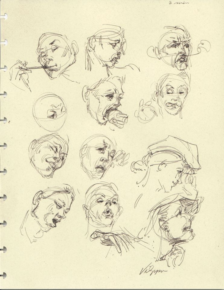 Studies Of Expression Glenn Vilppu Pictures To Draw Drawing