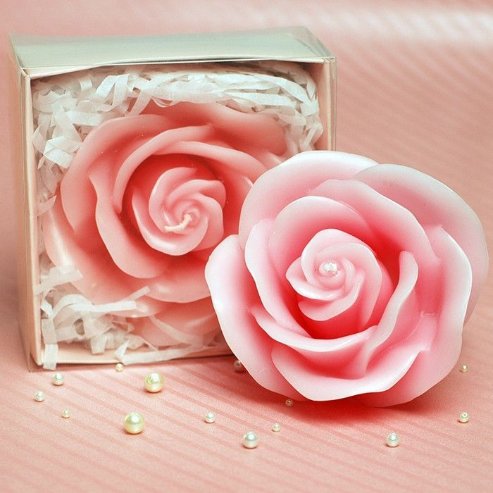 Rose Shaped Birthday Candle