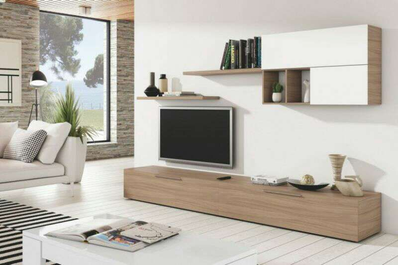 Wallapop 250 mueble sal n comedor tv moderno multimedia - Compra venta de muebles en valencia ...