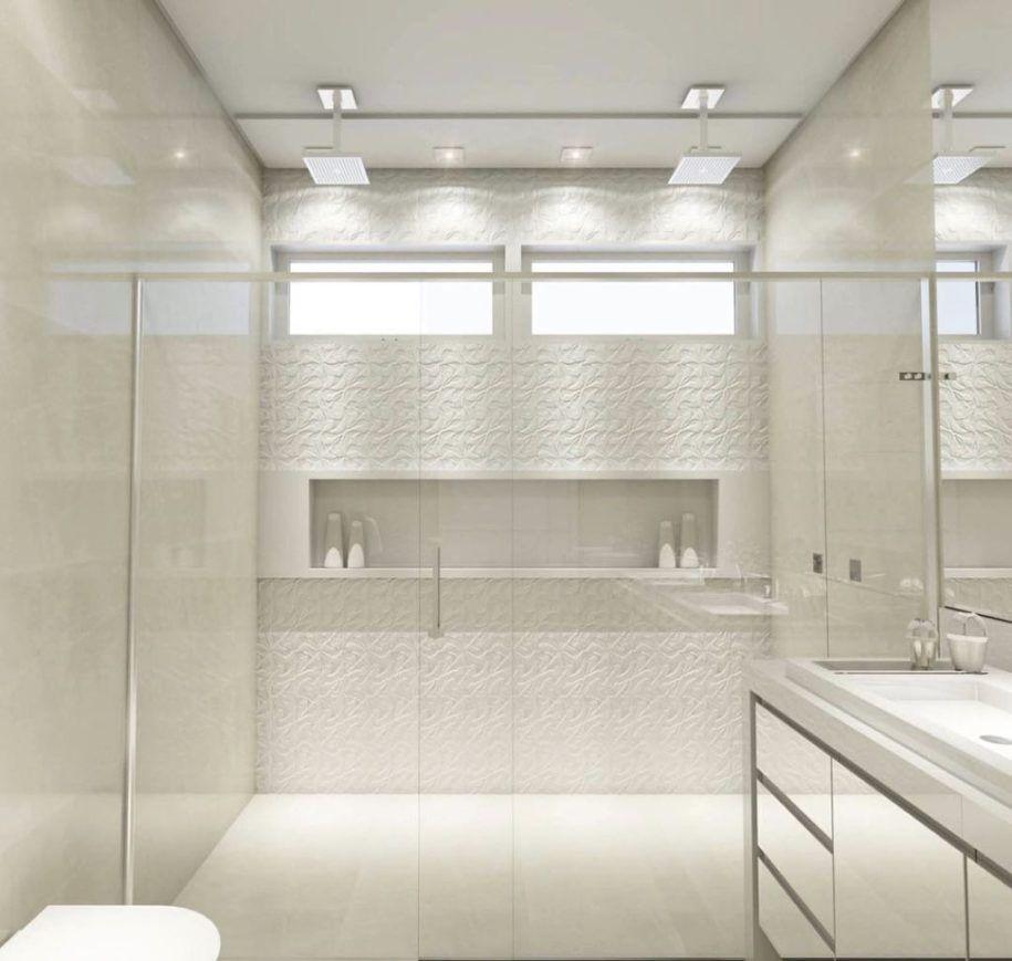 Tendências De Decoração De Interiores 2017: Banheiro Decorado Com Branco