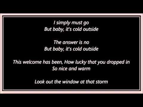 Leon Redbone & Zooey Deschanel Baby It's Cold Outside Lyrics   Outside lyrics, Baby cold, Lyrics
