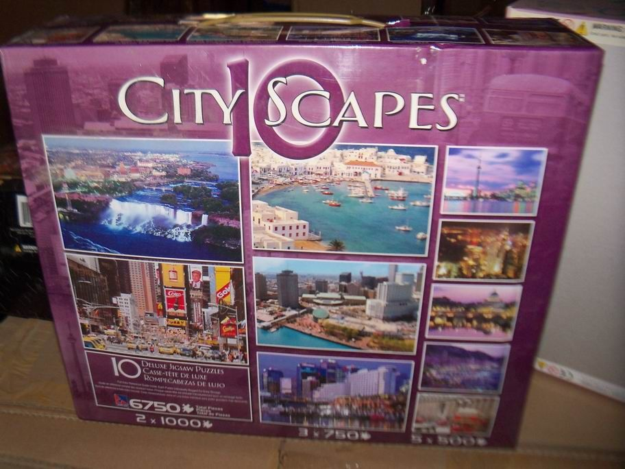 City Scapes Jigsaw Puzzles STOCK GOODS now ON SALE , good gift for friend ,home use like a decoration at kid's bedroom , wholesale price 3-4USD ,