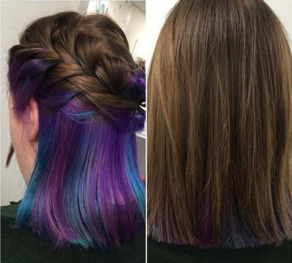 Hair Color Underneath With Regard To Inspire Hair Color Underneath Hidden Hair Color Purple Underneath Hair