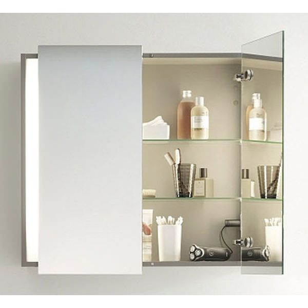 Duravit Ketho Mirror Cabinet With Lighting 180 X 1000mm Kt 7532 Image Mirror Cabinets Bathroom Mirror Cabinet Mirror Cabinet With Light