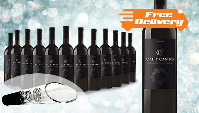 12 Bottles of Award-Winning Castillo Red Wine - Free Delivery! Raise a toast to these 12 Bottles of Castillo Red Wine      Supplied with a free decanter      Stock up on red for your next party or to accompany a fine meal      Winner of 2014 'Gold' Berlin Wine Trophy      This silky and sweet red is perfect for drinking with meat and cheese      Features powerful red fruit aromas      Made...