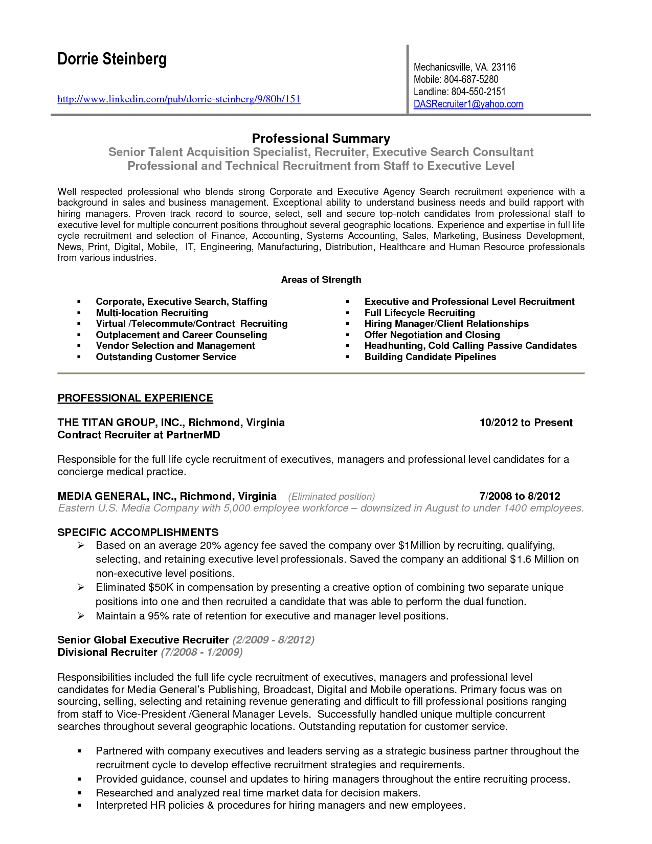 Linkedin Resume Builder Template