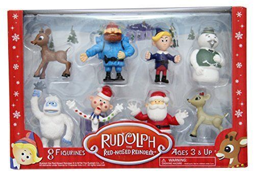 Details about Christmas Red Nosed Reindeer Figurine Set Abominable