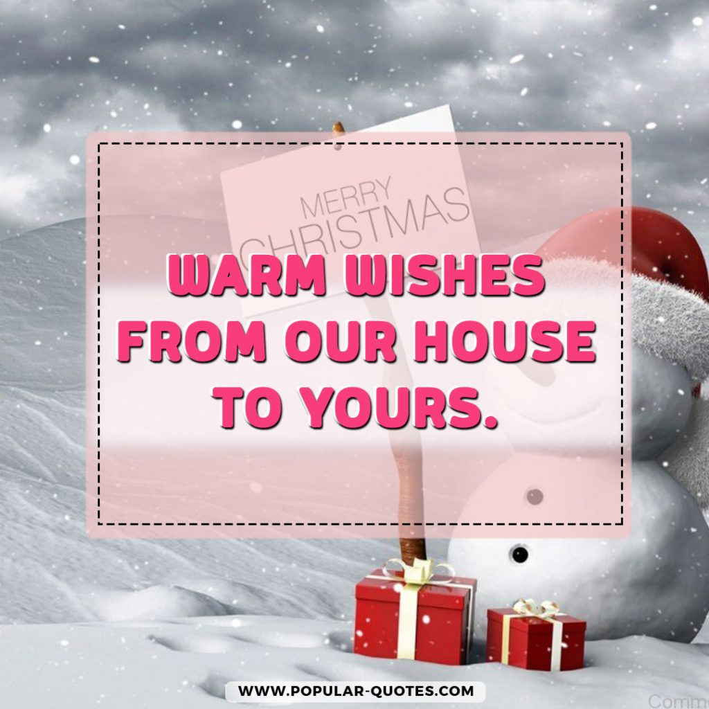 warm christmas quotes