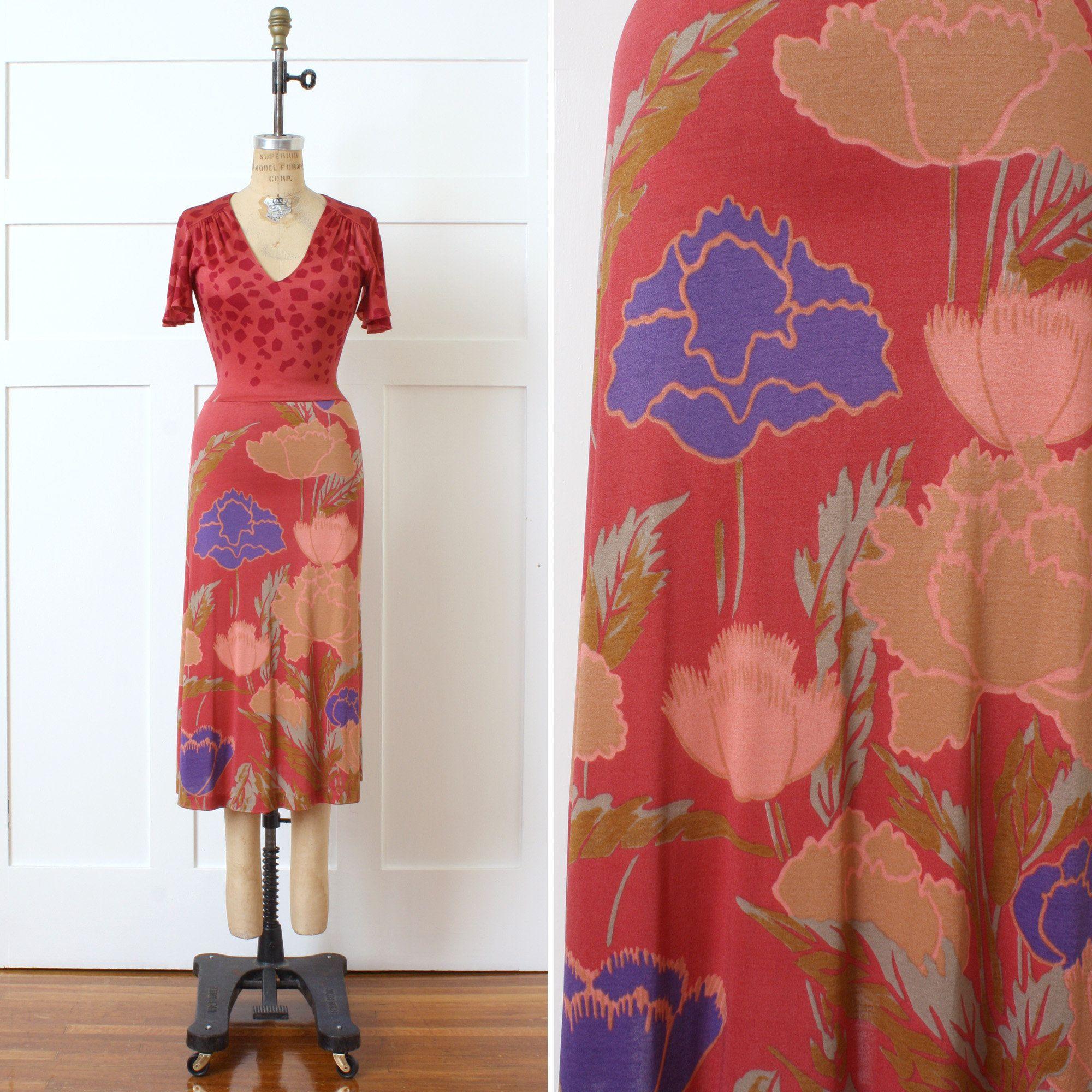1970s Slinky Retro Jersey Fabric