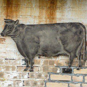 Cow Wall Art | Metal Hanging Cow | Metal Farmhouse Decor