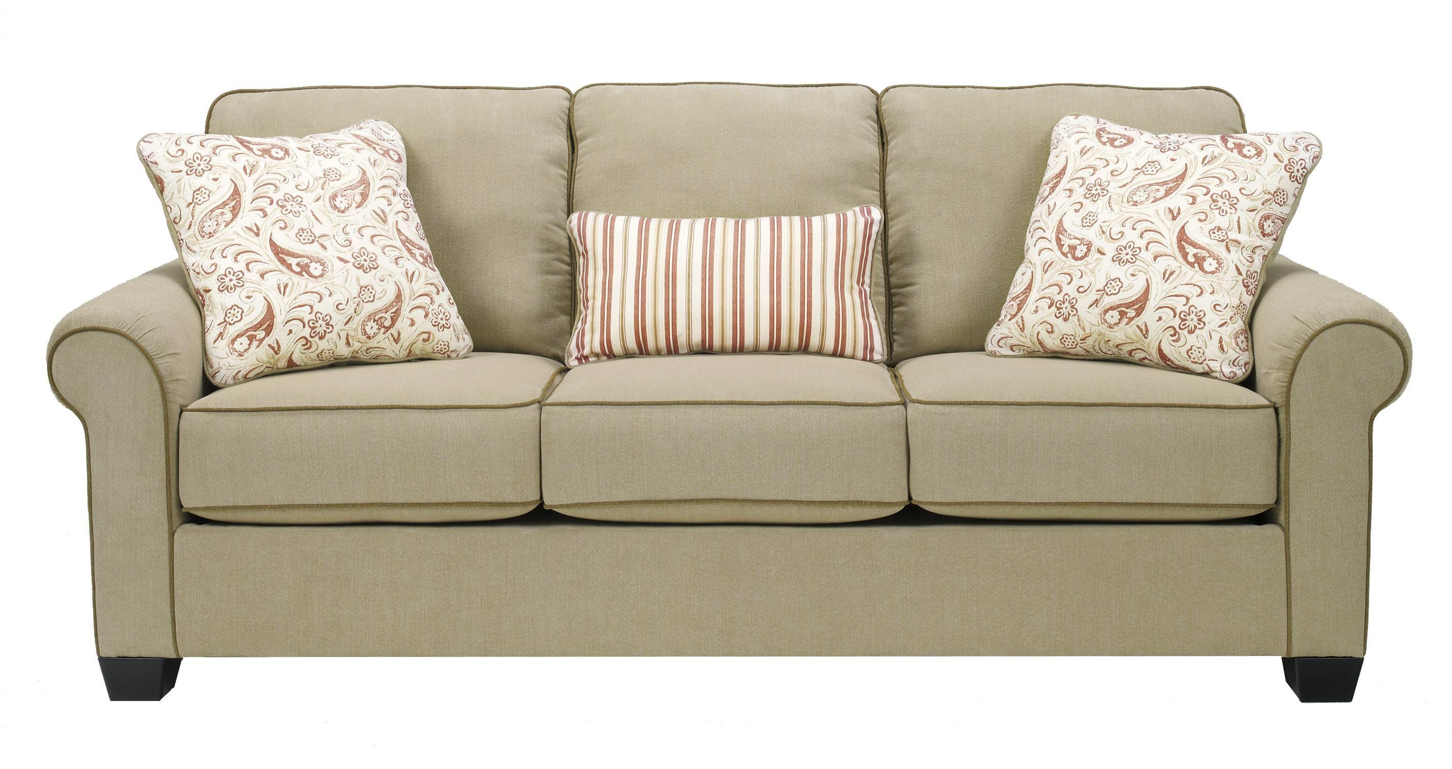 Lucretia Sand Queen Sofa Sleeper By Signature Design By Ashley Sofa Upholstery Ashley Sofa Sofa Price