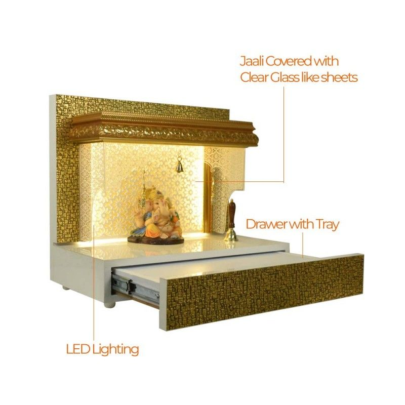 Golden designer wooden mandir pooja ghar for home also art sculpture in rh pinterest