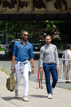 denim streetwear sunglasses men fashion summer