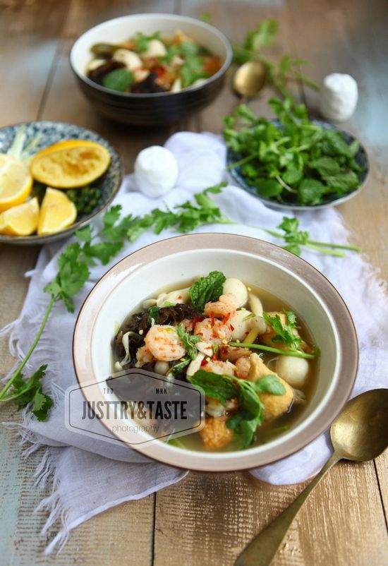 Resep Sup Tom Yam Kuah Bening Resep Sup Masakan Resep Makanan