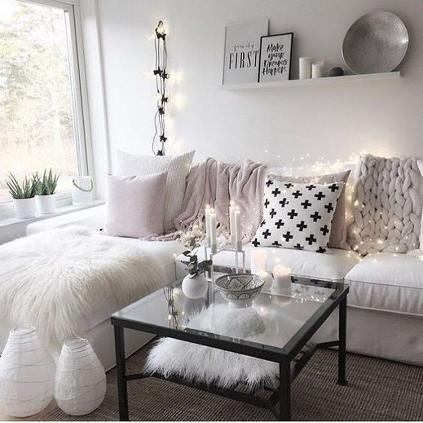 99 Elegant Cozy Bedroom Ideas With Small Spaces 99architecture Girly Living Room Apartment Living Room Apartment Living