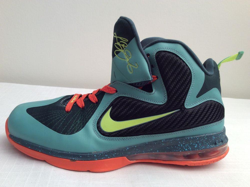 info for 4445e 582af Nike Zoom LEBRON 9 CANNON Volt Slate Blue Orange 469764-004 Mens Shoes Size  11  Nike  BasketballShoes