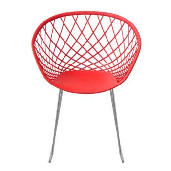 Fly sidera 13990€ fauteuil chrome et rouge