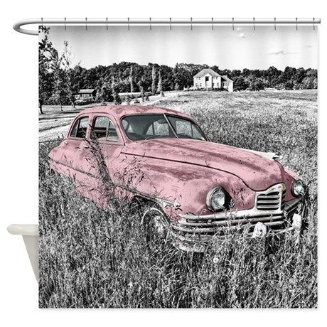 vintage pink car Shower Curtain | Vintage pink, Cars and Vintage