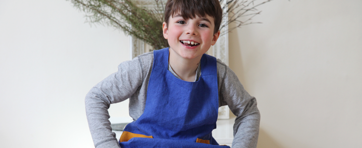 Linen aprons for the whole family Tutorial Linen apron